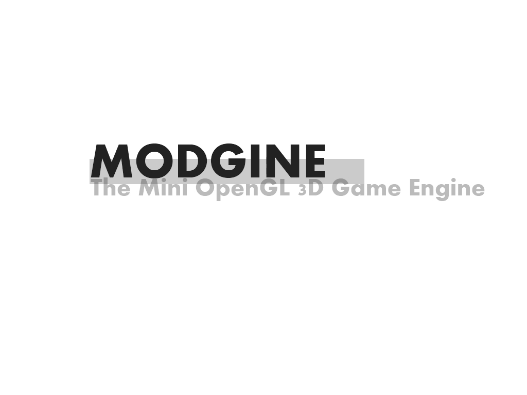Modgine: The Mini OpenGL 3D Game Engine - Mod DB