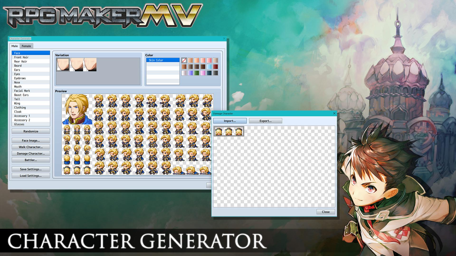Character generator image - RPG Maker MV - Mod DB