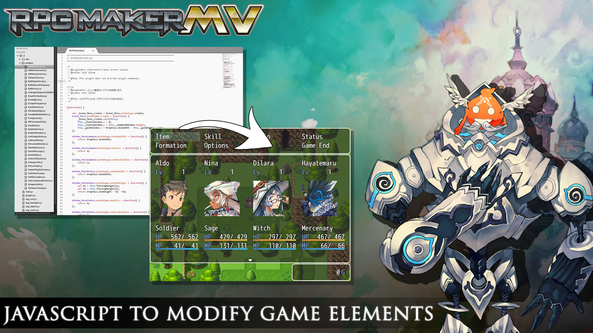 Javascript to modify game elements image - RPG Maker MV - Mod DB