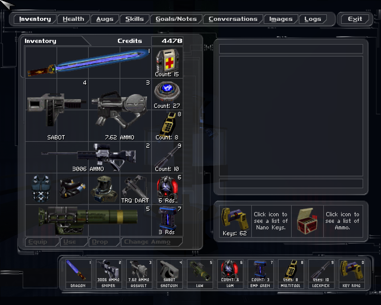 Inventory Image Deus Ex Mod Db