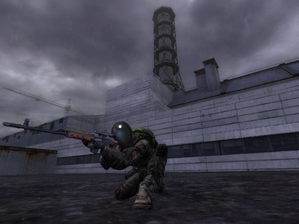 Картинка снайпера из сталкера