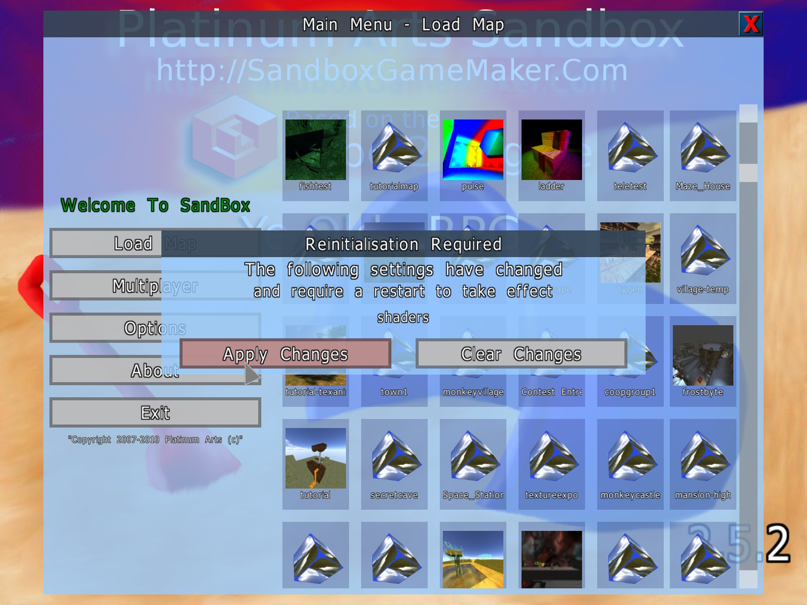 new UI image - Platinum Arts Sandbox Free 3D Game Maker - Mod DB