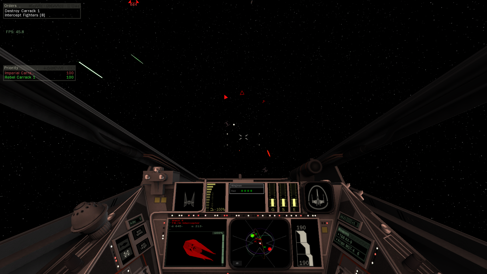X Wing Cockpit Image Fate Of The Galaxy Mod Db