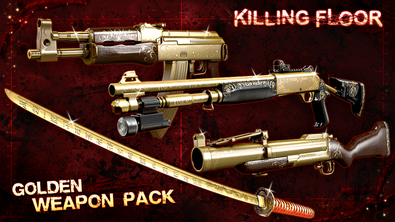 Golden Weapons Pack for only $7.99!