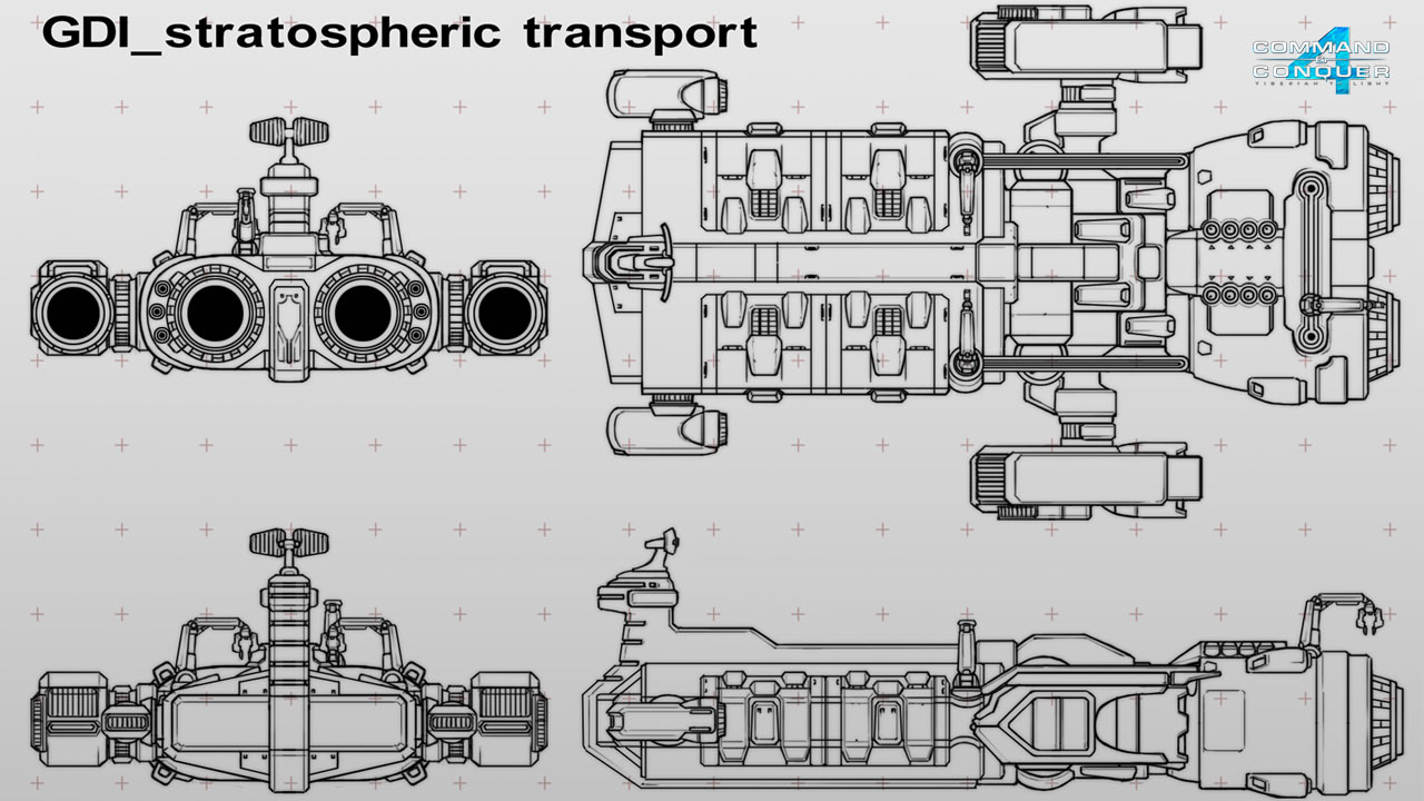 Global stratospheric transport ship a blueprint image cc4 blueprint view original malvernweather Image collections