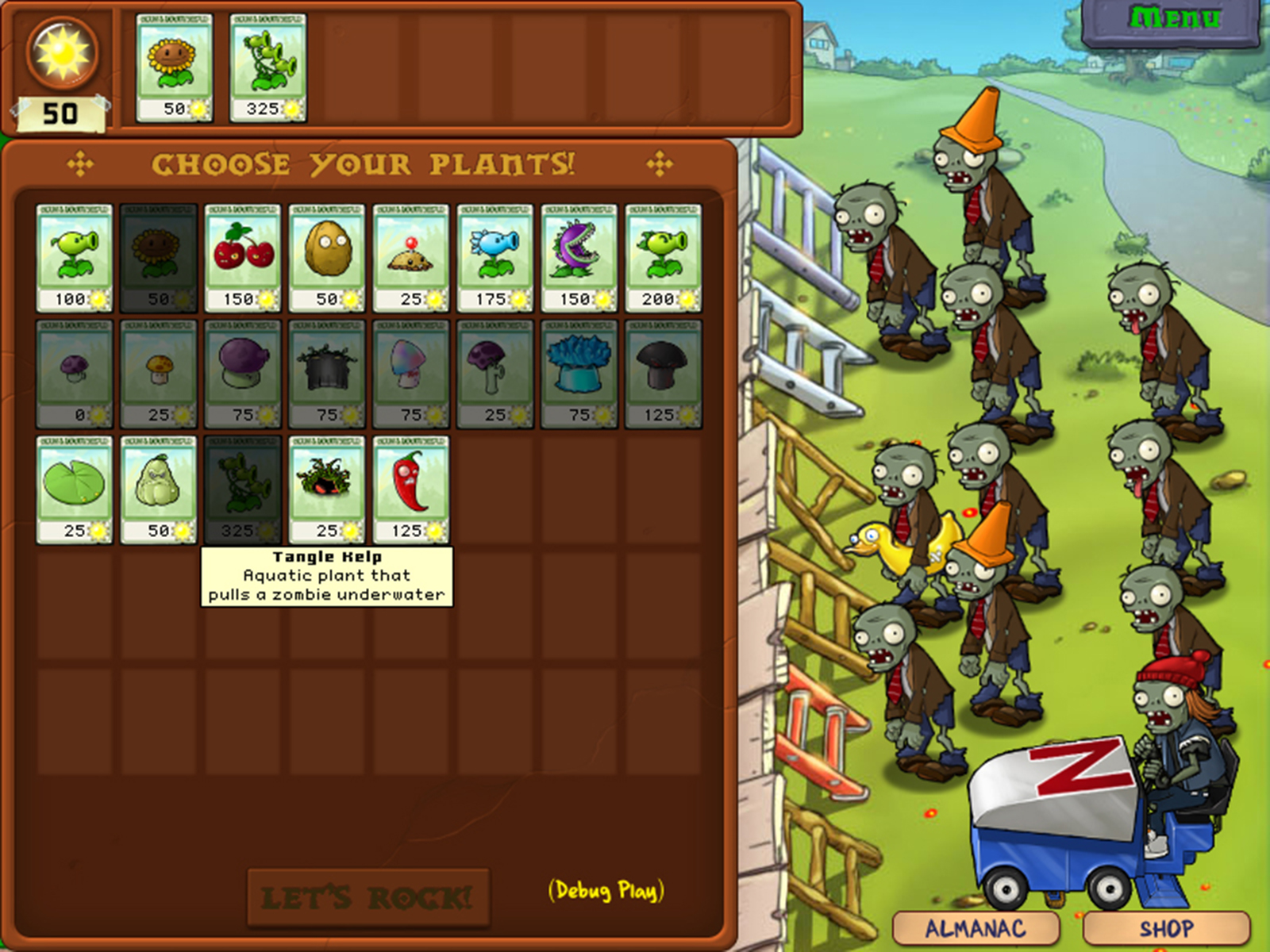Plants vs zombies le tower d fense nature 42eme degr for Zombie balcony