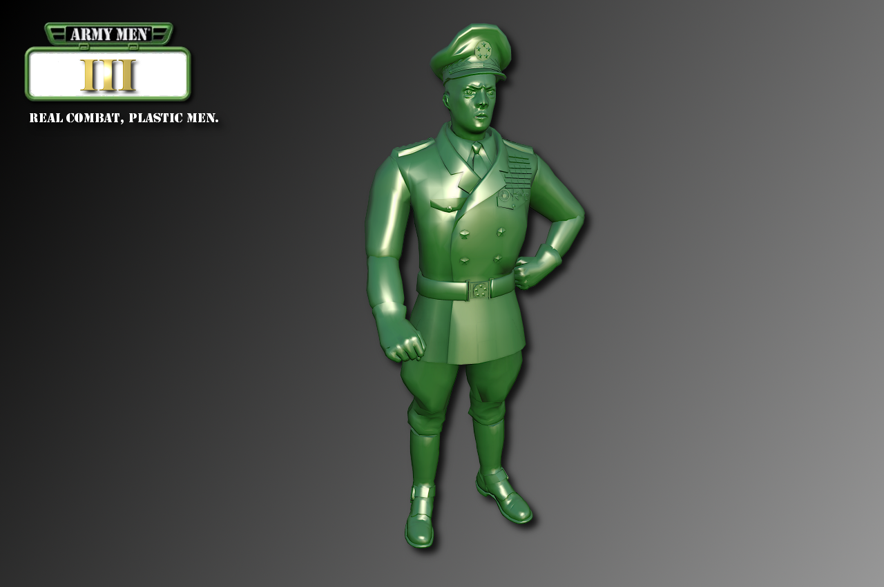 Army Men III Characters - Green General imageArmy Men Png