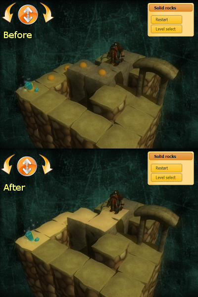 Image comparison of path markers