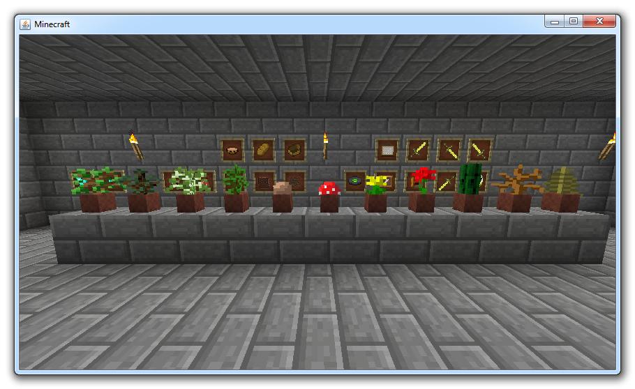 Flower Pots and Item Frames image - Minecraft - Mod DB