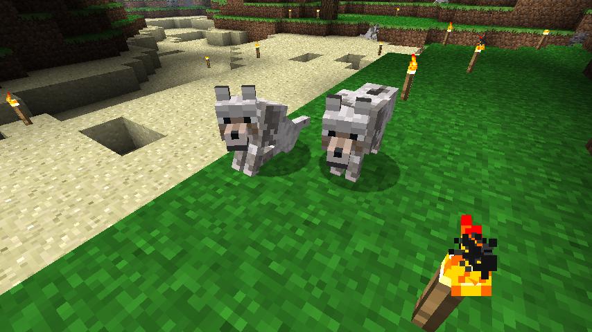 Новое лого * Добавлены волки, которых можно сделать питомцем, их можно найти в лесах или
