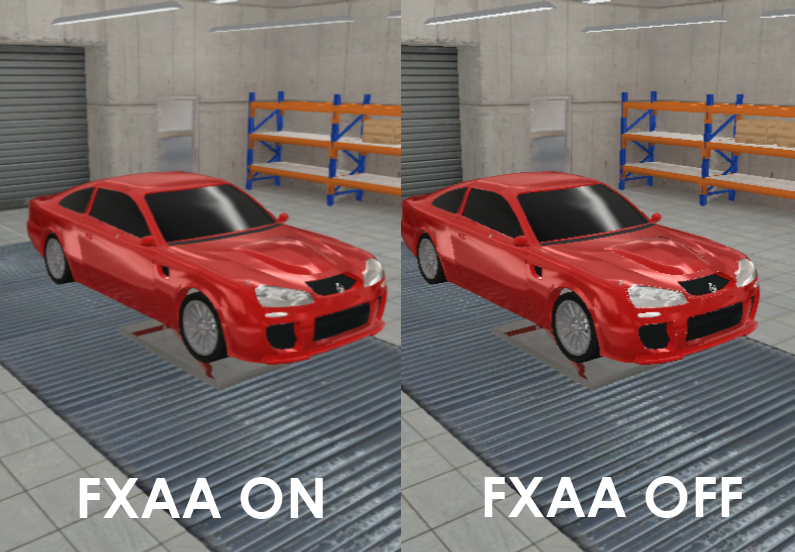 FXAA Test image - Automation: The Car Company Tycoon Game