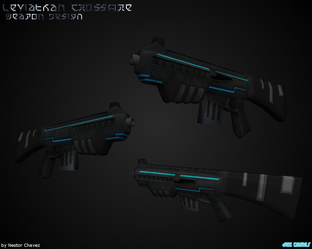 New Guns Designs And Mid-range Laser Gun