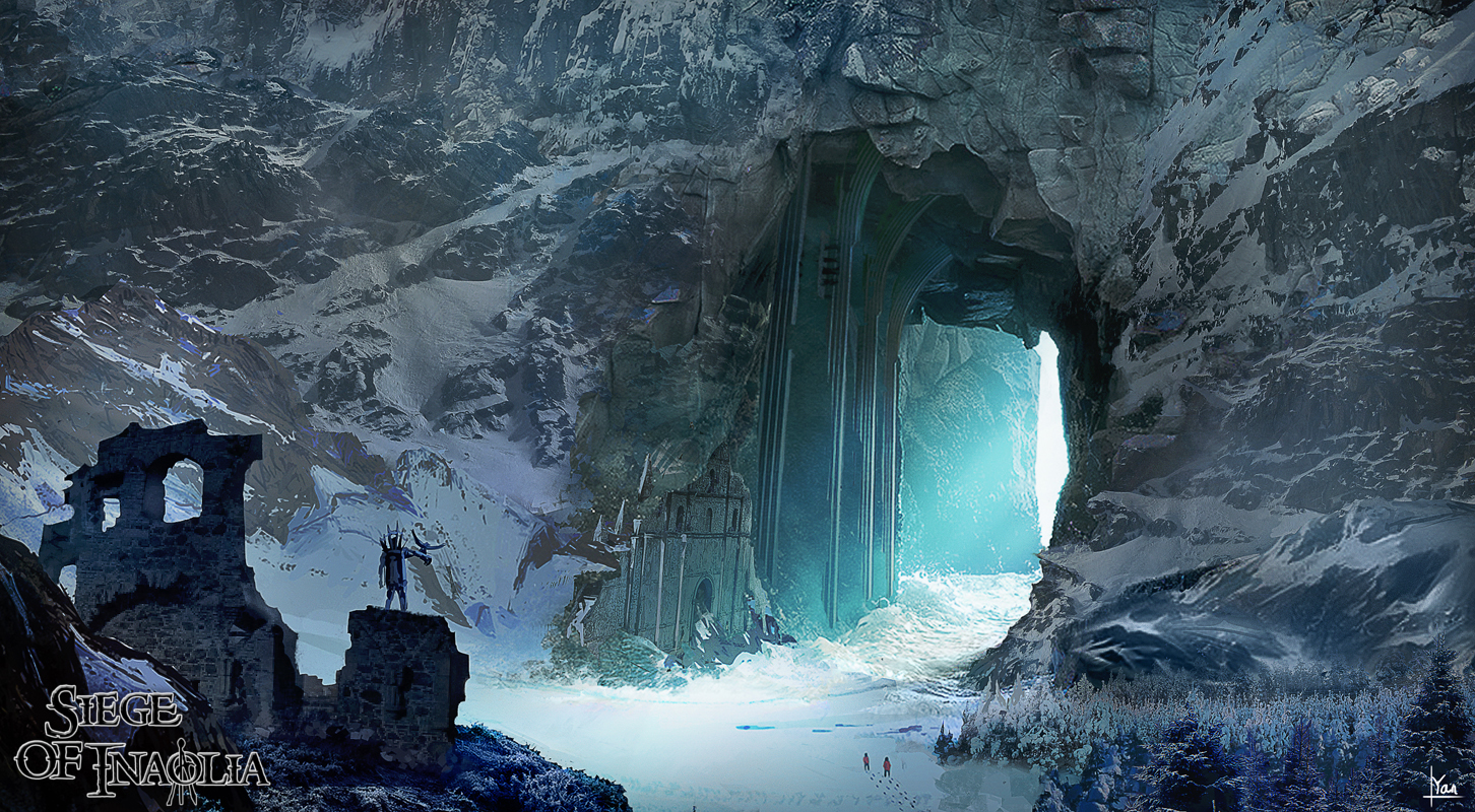 concept art - snow arena environmental concept  1 image - siege of inaolia