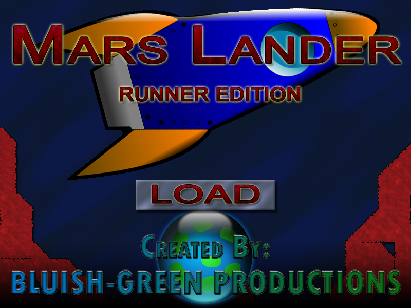 Title-screen of Mars Lander Runner