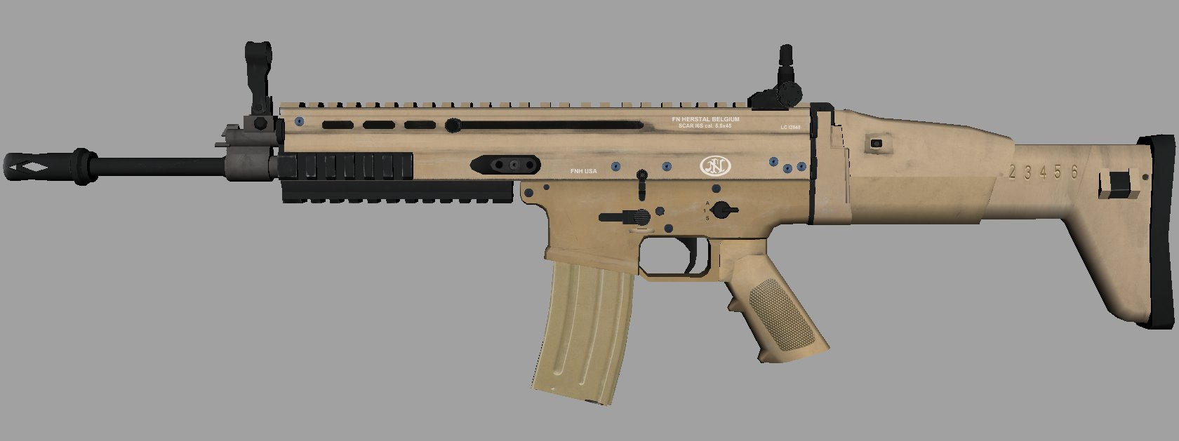 New Scar L Textured Model Image Elite Squad Mod Db