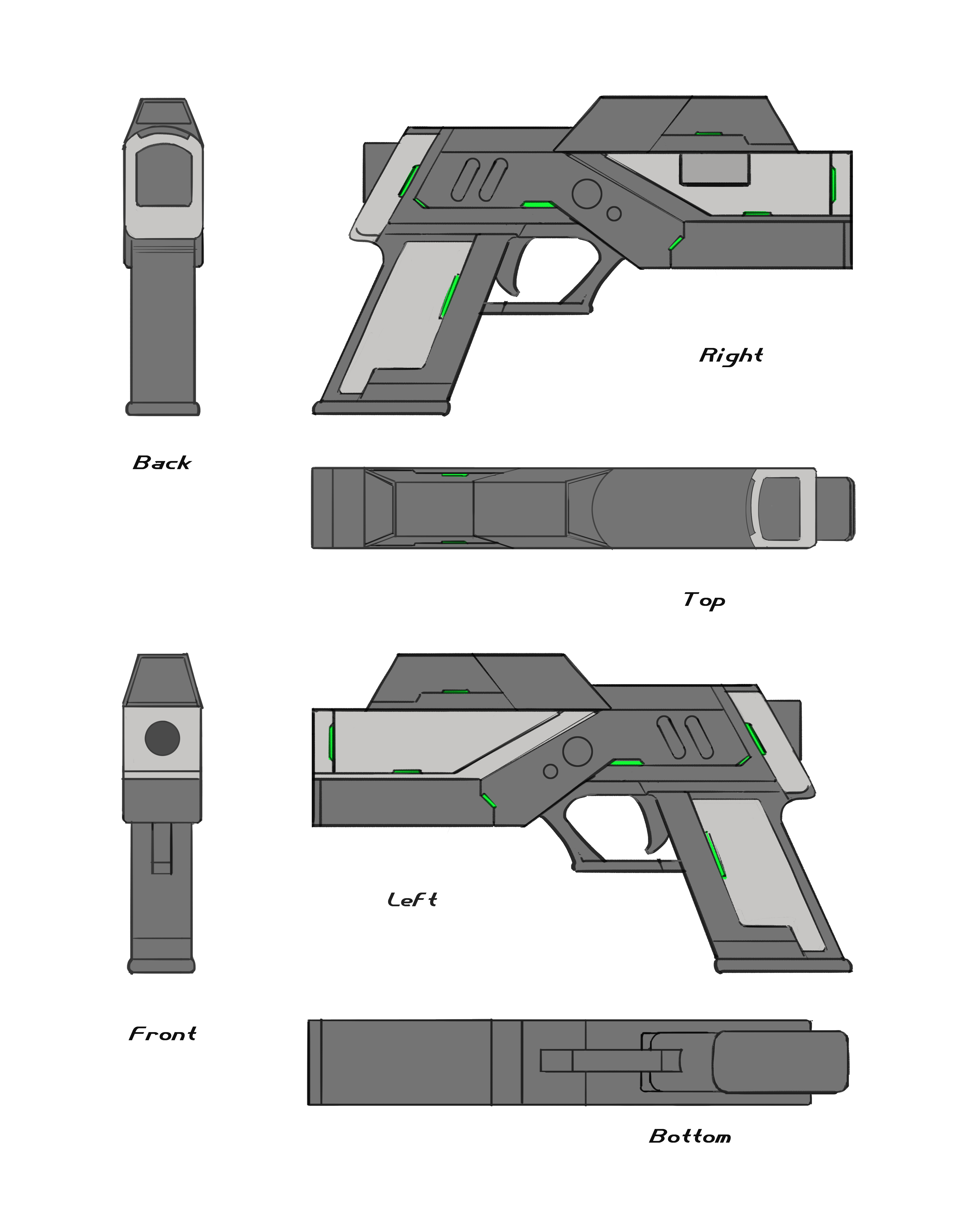3d Gun Image 3d Home Architect: Another Pistol Concept Final Sheet Image