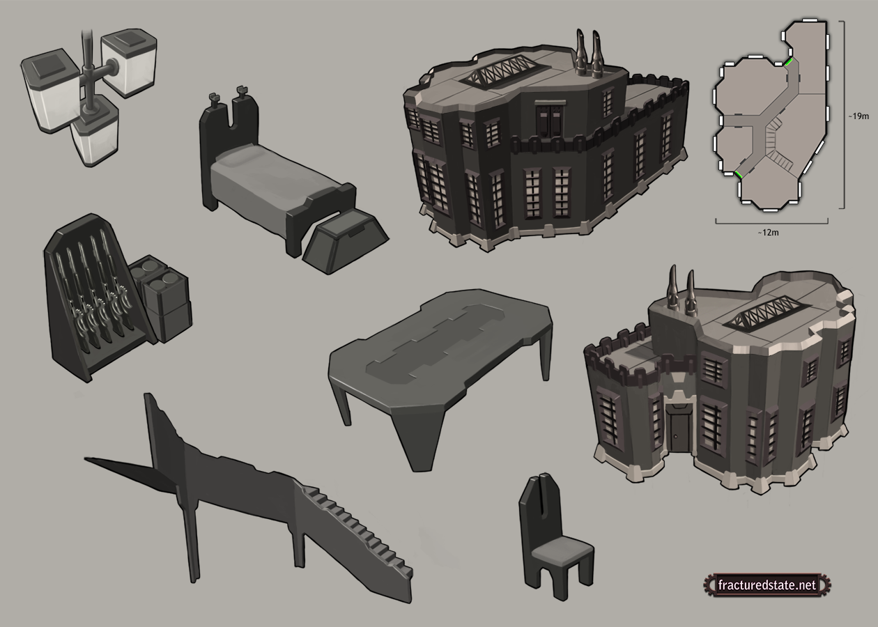 Barracks Concept With Related Props