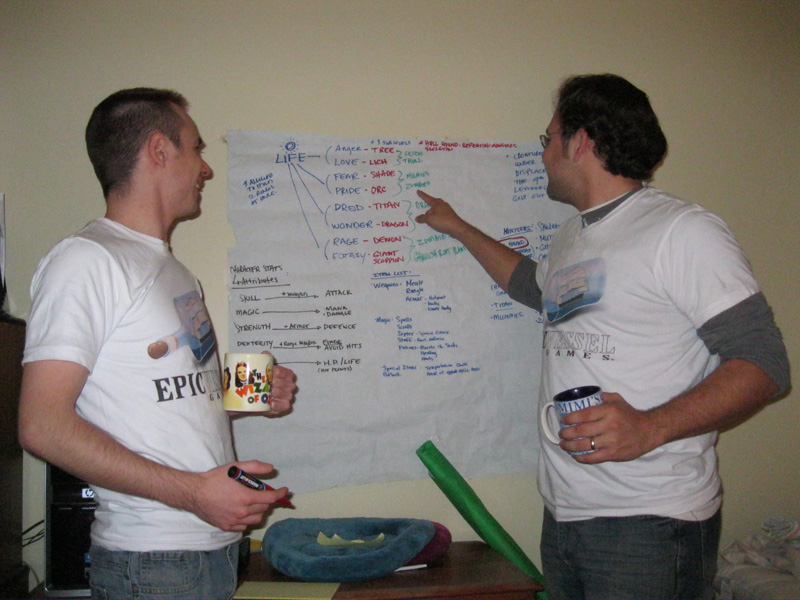 Joe and Matt planning