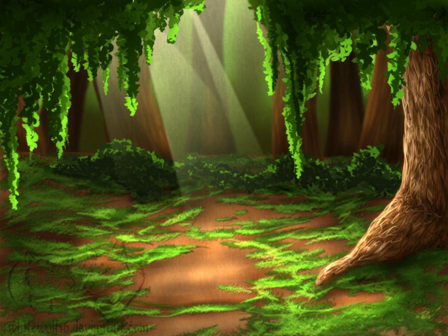 Лес картинка для детей анимация, открытка или