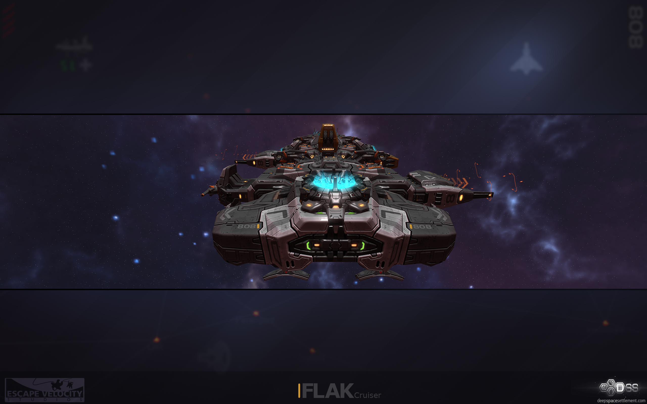 Flak cruiser wallpaper image deep space settlement mod db - Deep space 3 wallpaper engine ...