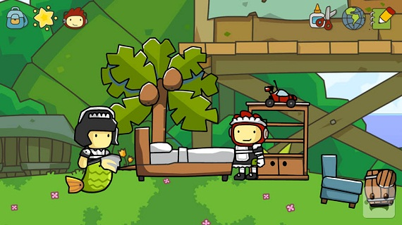 scribblenauts unlimited how to play as link