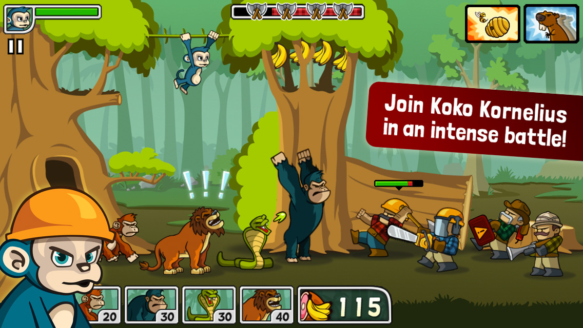 Game Play preview side-scroller defense game Lumberwhack