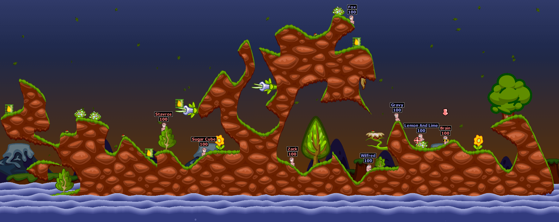 Play Original Worms Game Online Free