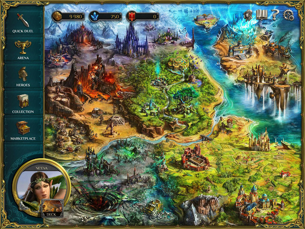 Spellweaver tcg main screen and world map image mod db world map view original sciox Gallery