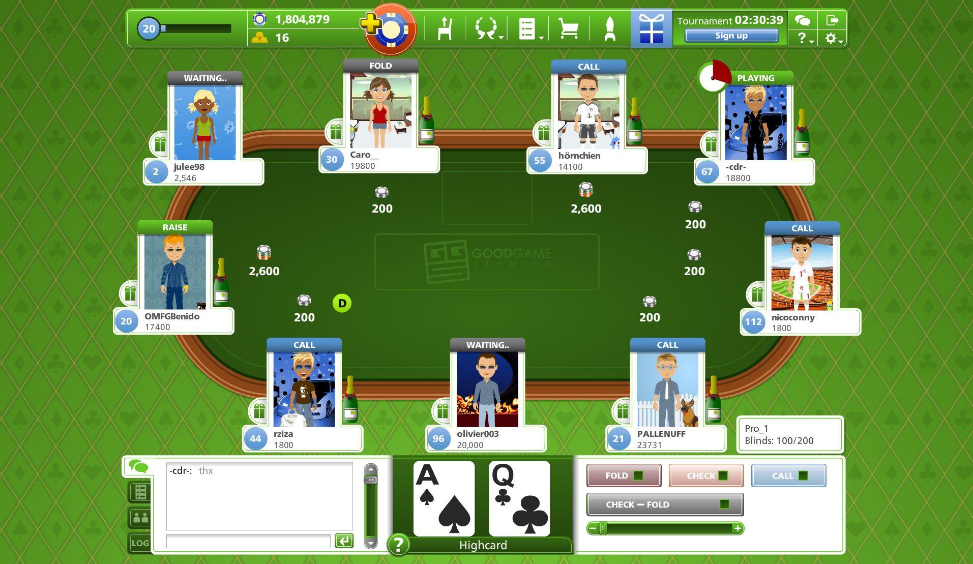 Screenshot image - Goodgame Poker - Mod DB