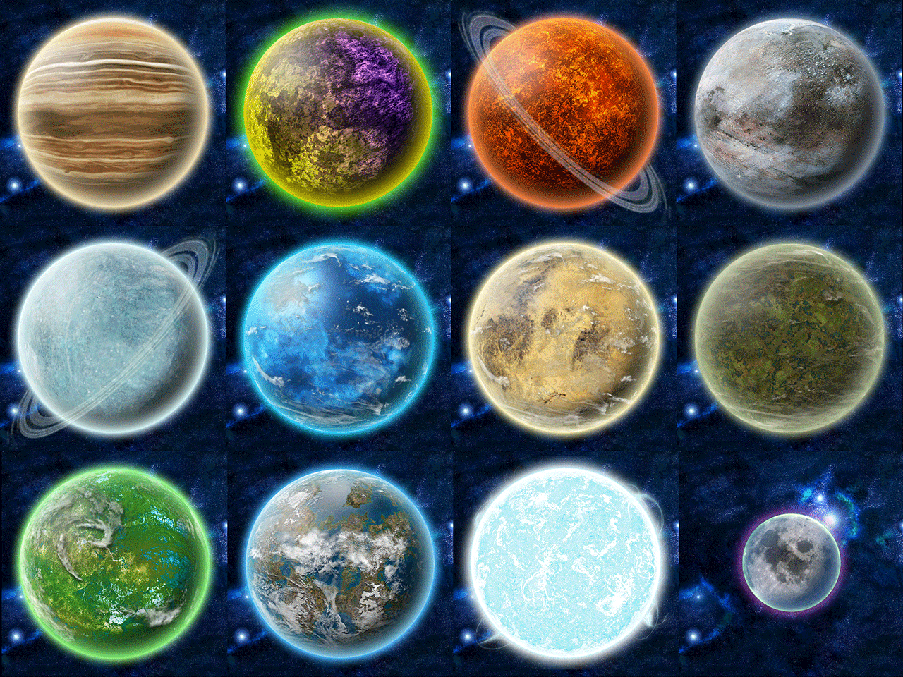 all types of planets - photo #7