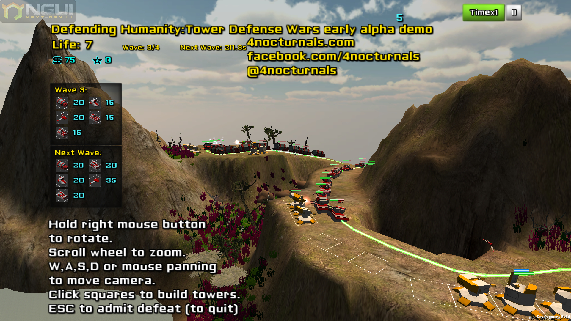 Early alpha unity 4 version image - Defending Humanity: Tower