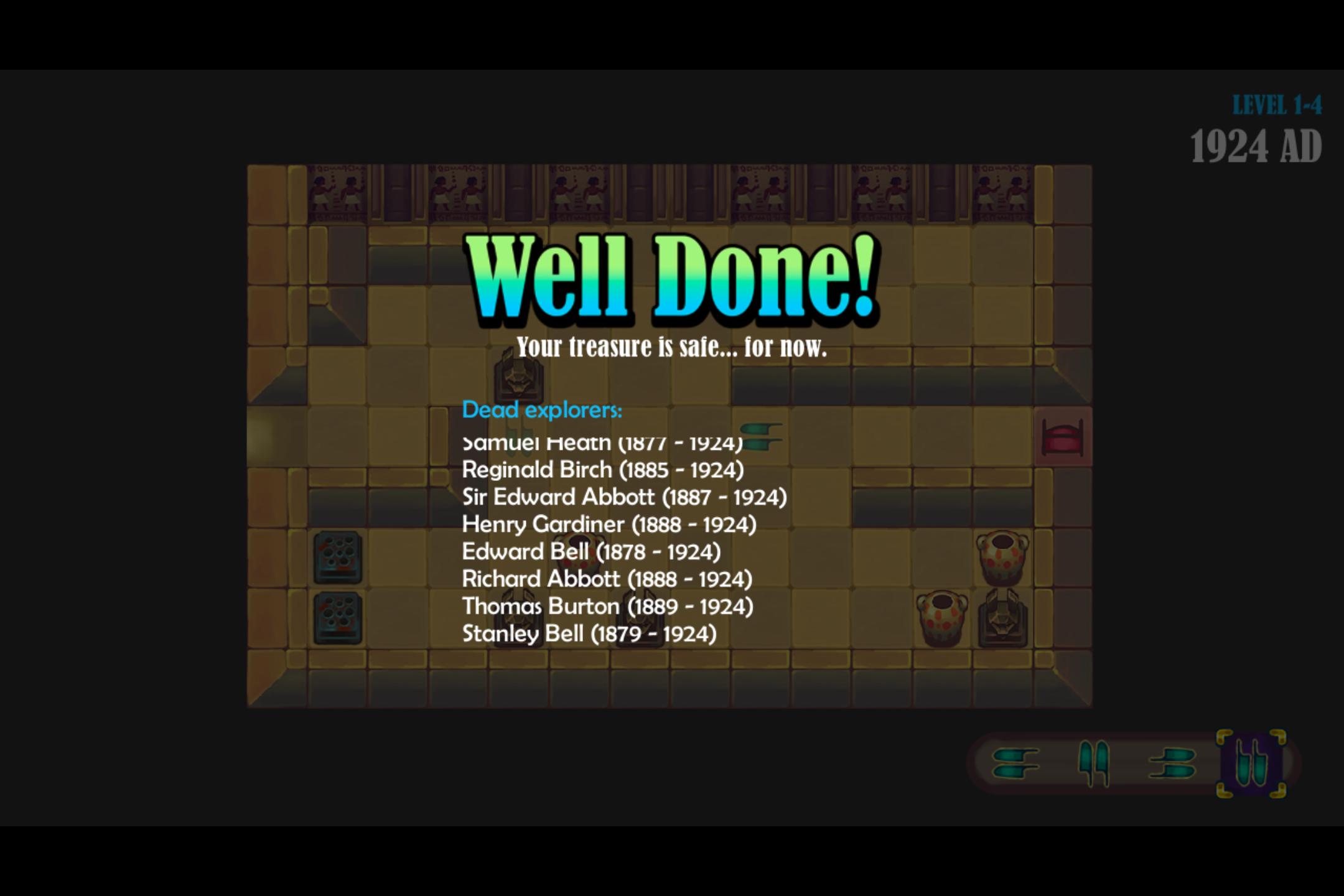 Uncategorized Tutankhamun Game level completed screen image revenge of tutankhamun mod db original