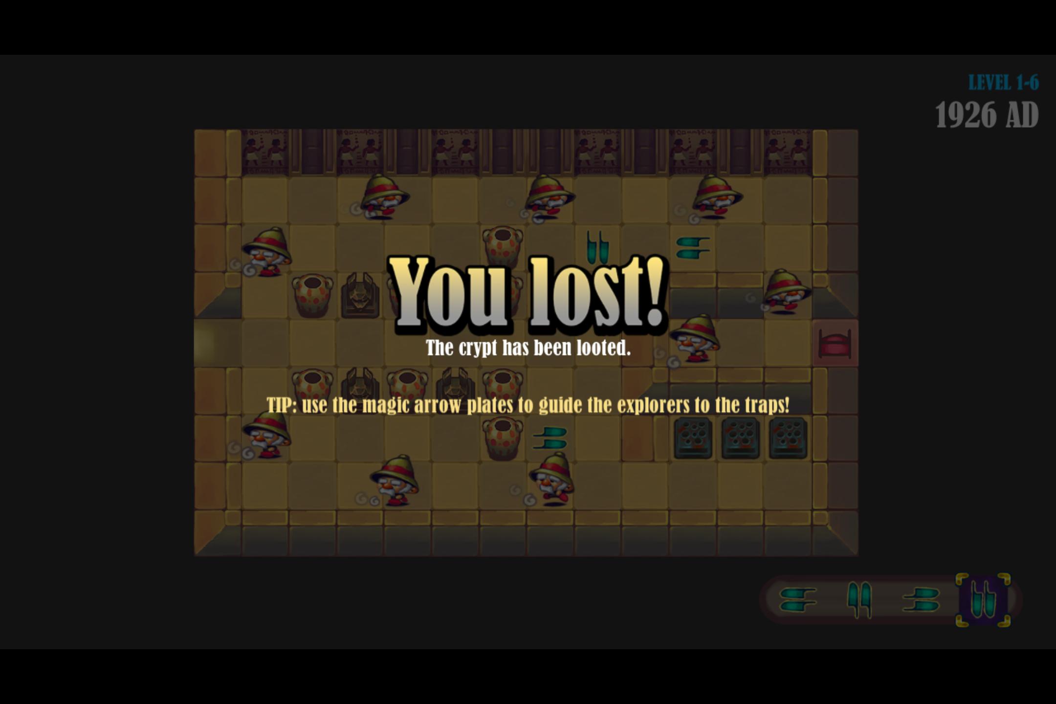 Uncategorized Tutankhamun Game level failed screen image revenge of tutankhamun mod db original