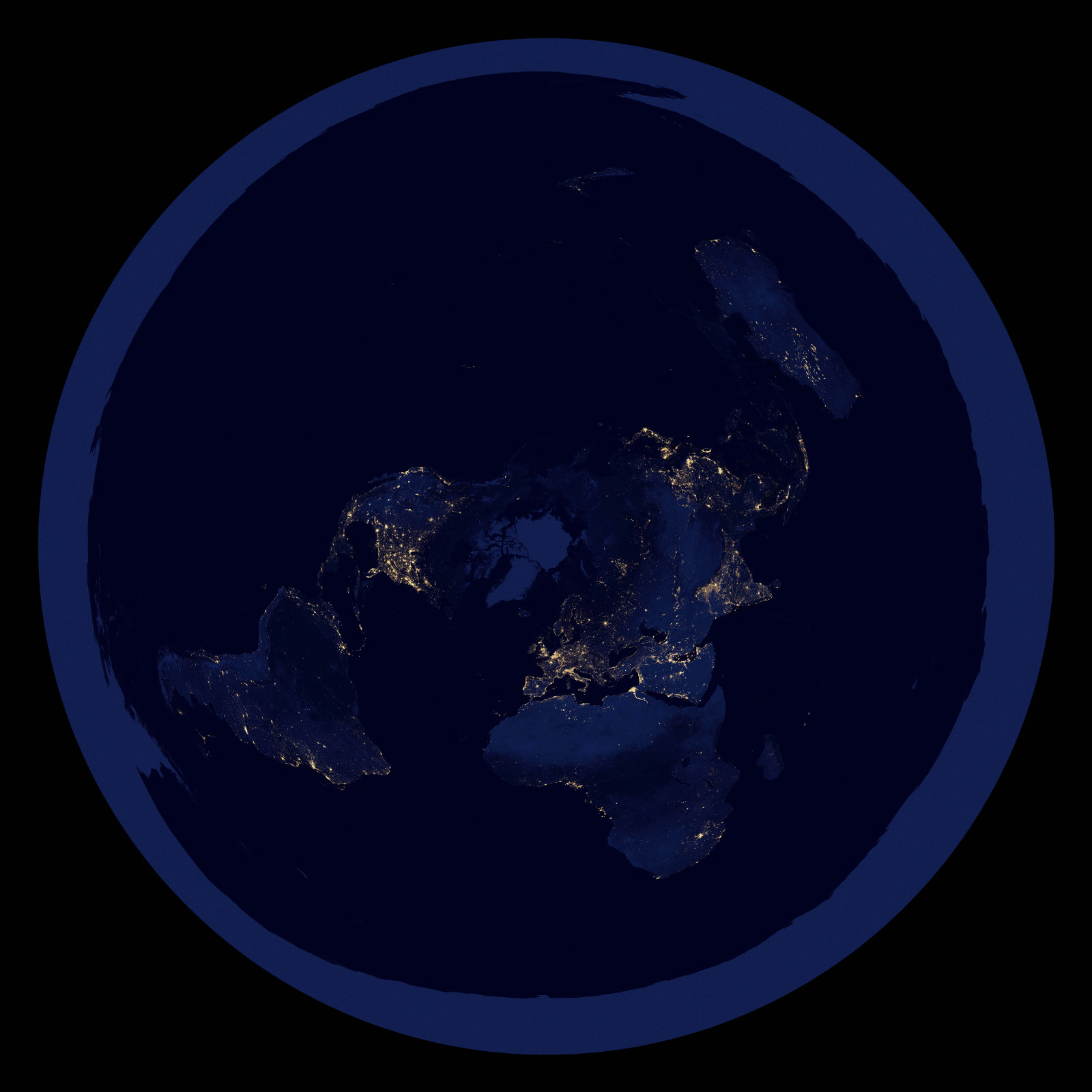 Flat earth at night world map image firmament wars mod db night world map view original gumiabroncs Images