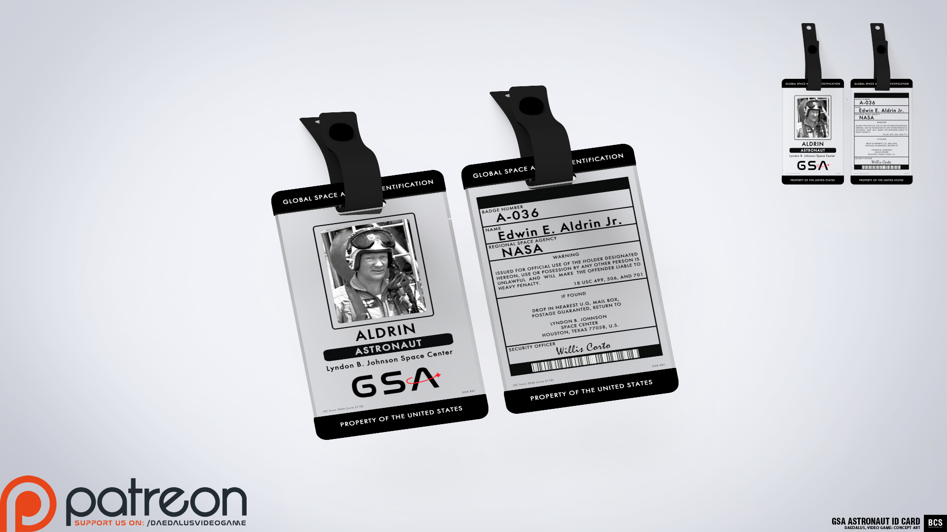 GSA Astronaut ID Card image - Daedalus, Video Game - Mod DB