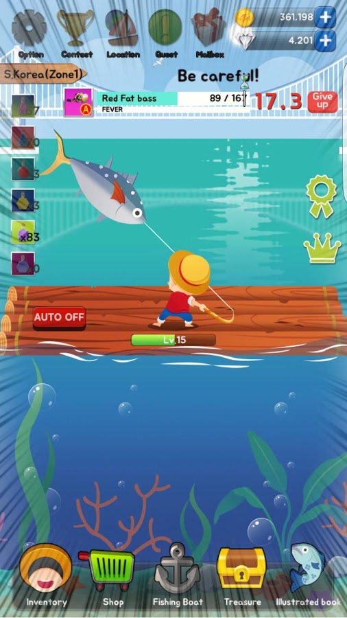 Boy 39 s fishing ios android game mod db for Fishing game android