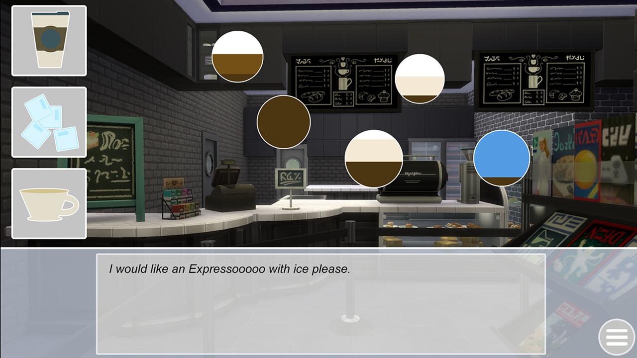 Vizuálny román datovania Sims Masa kuliah