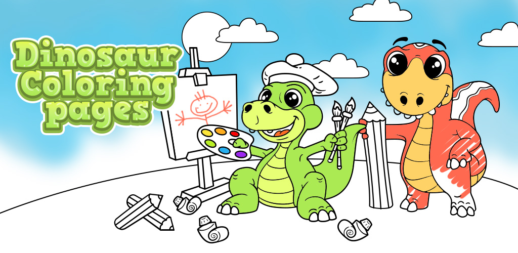 Dinosaur coloring pages for kids ios game mod db Coloring book ios