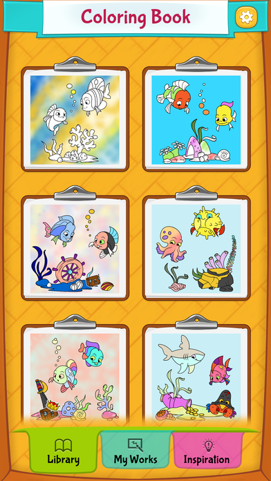 fish coloring pages games kids - photo#32