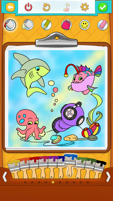 fish coloring pages games kids - photo#20