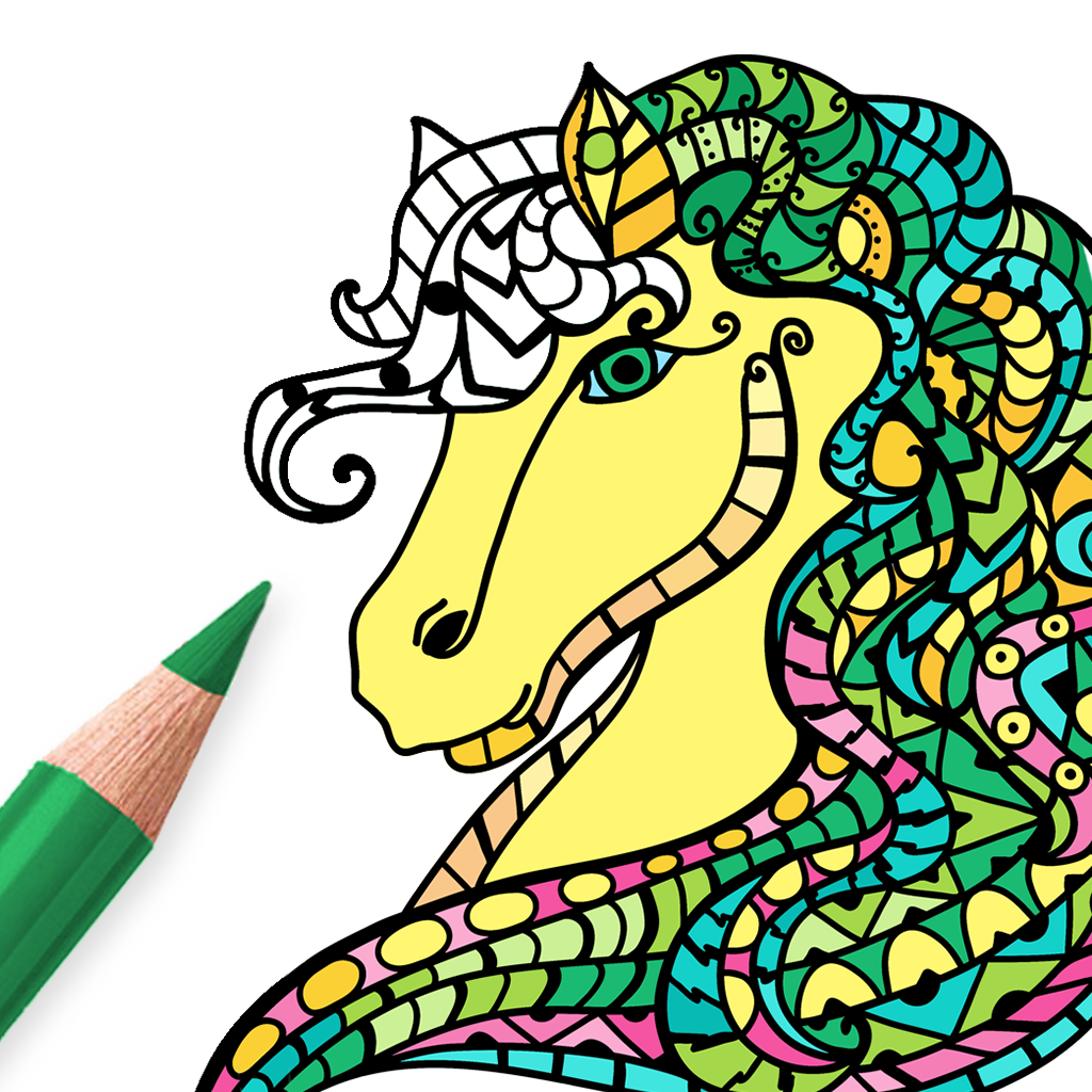 Horse coloring pages for adults ios game mod db Coloring book ios