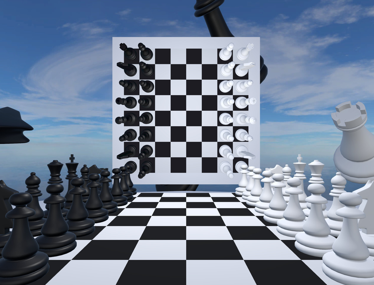 Very Real Chess Windows, VR game