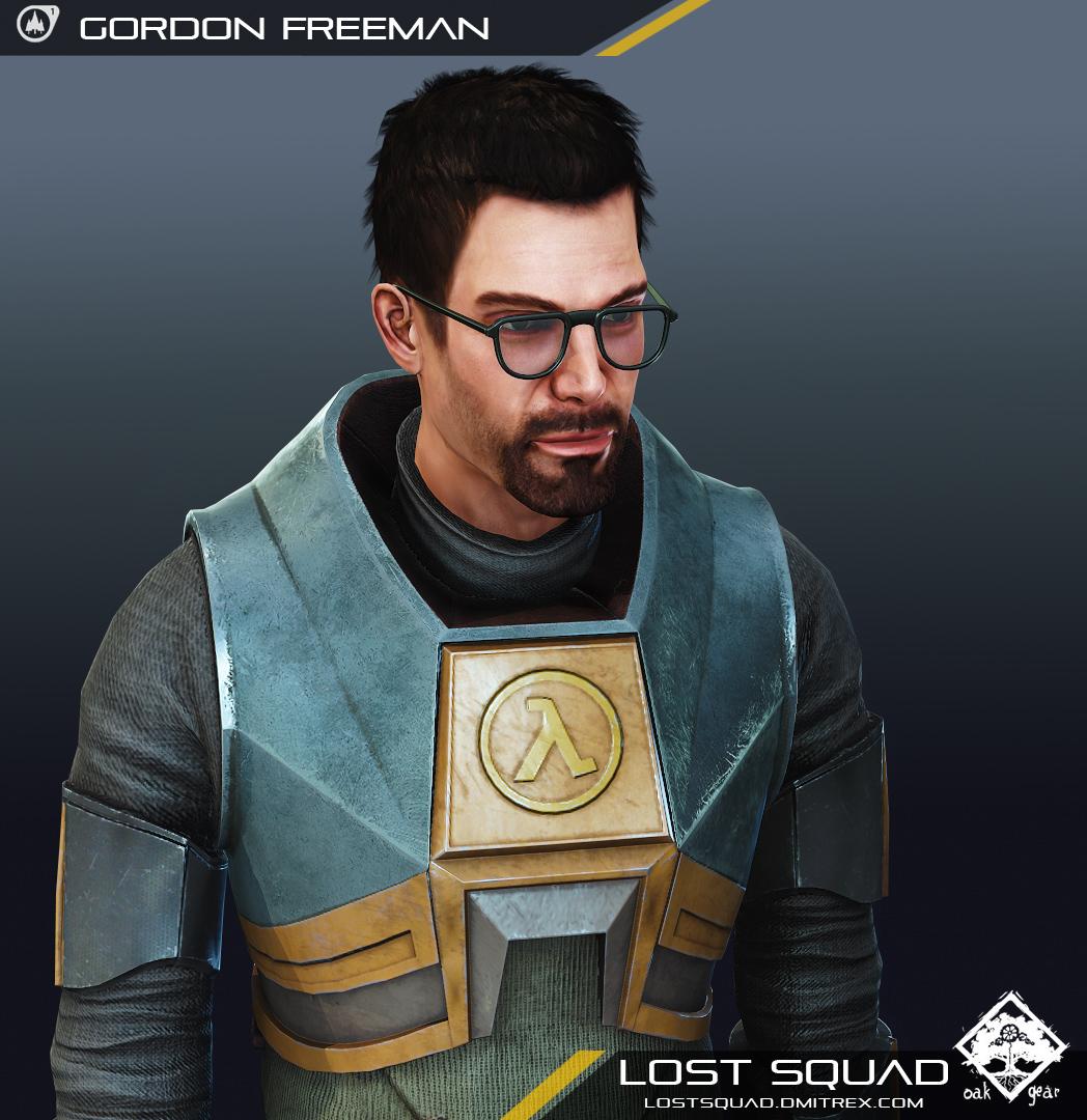 render  lost squad gordon freeman model image