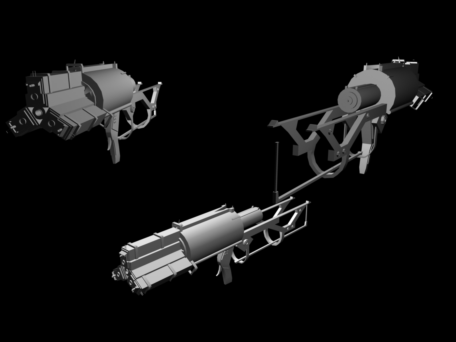 Dead Space 3 Rifle Pulse rifle image - 3D...