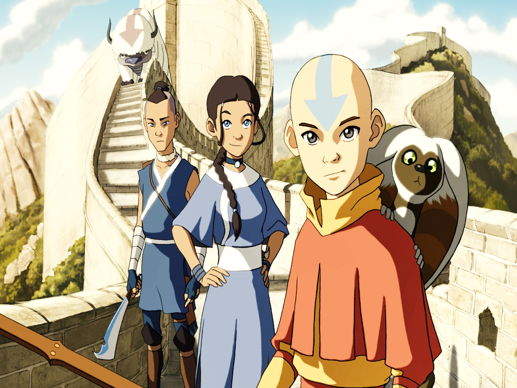 The sokka katara and avatar last airbender