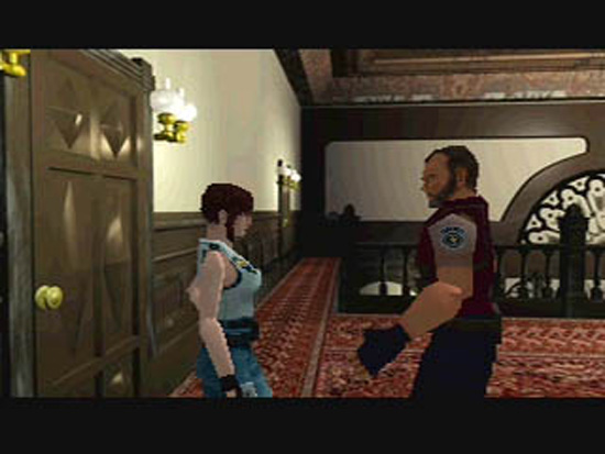 Resident Evil Playstation 1.This hall is dangerous! now let me give you some acid rounds for a weapon you don't have yet. Thanks Barry....you are my hero..... :/