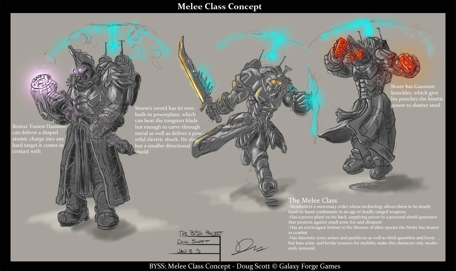 Game Design Character Classes : Melee character classes image galaxy forge games mod db