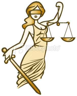 Lady Justice Royalty Free Stock Vector Art Illustration