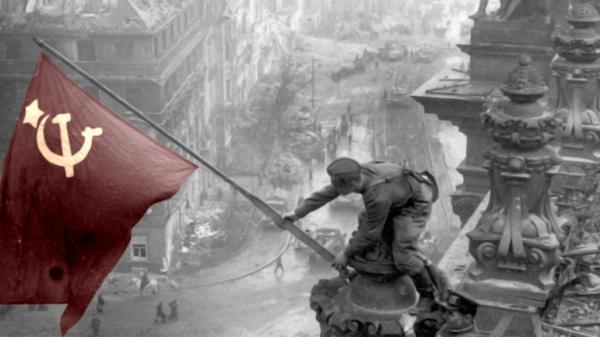 Ussr Flag Black And White Berlin world war 2 Sov...