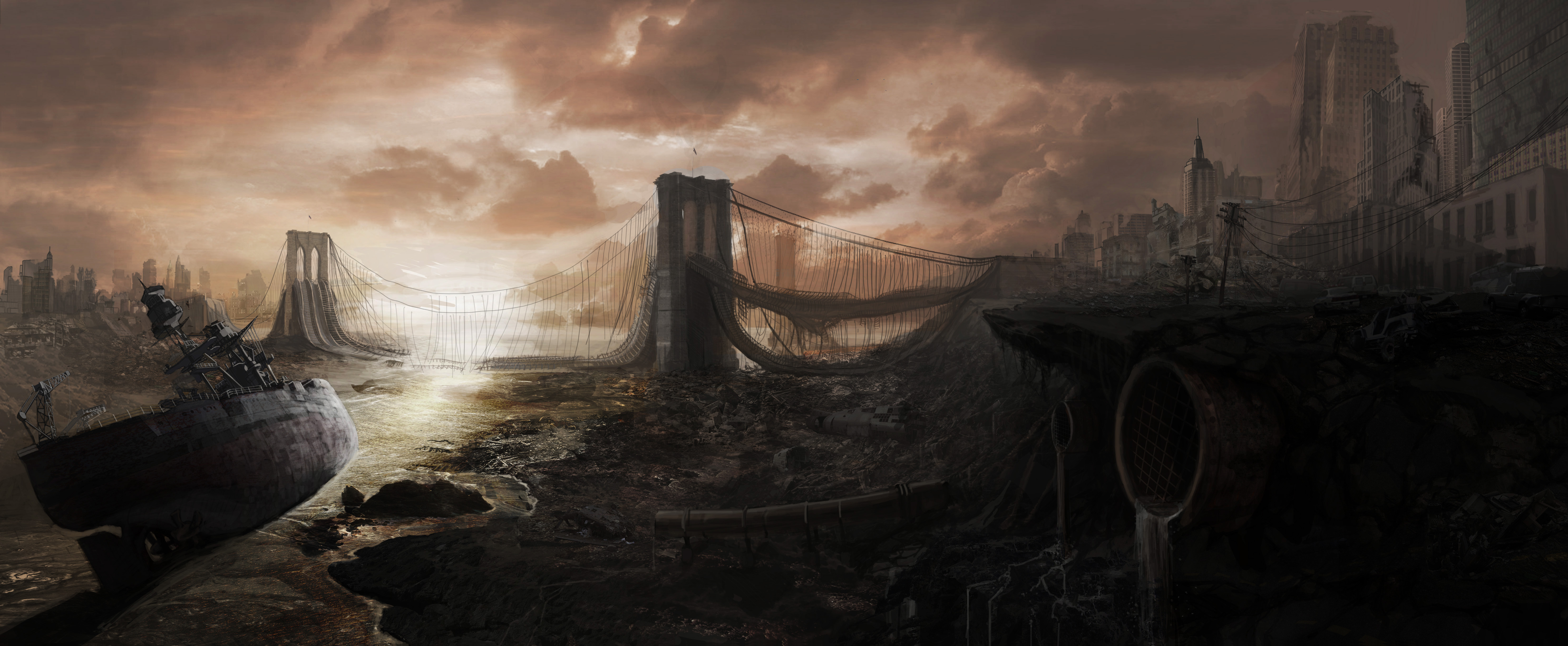 Post Apocalyptic City Concept Art 4 Image Ashes Of Dystopia Mod Db